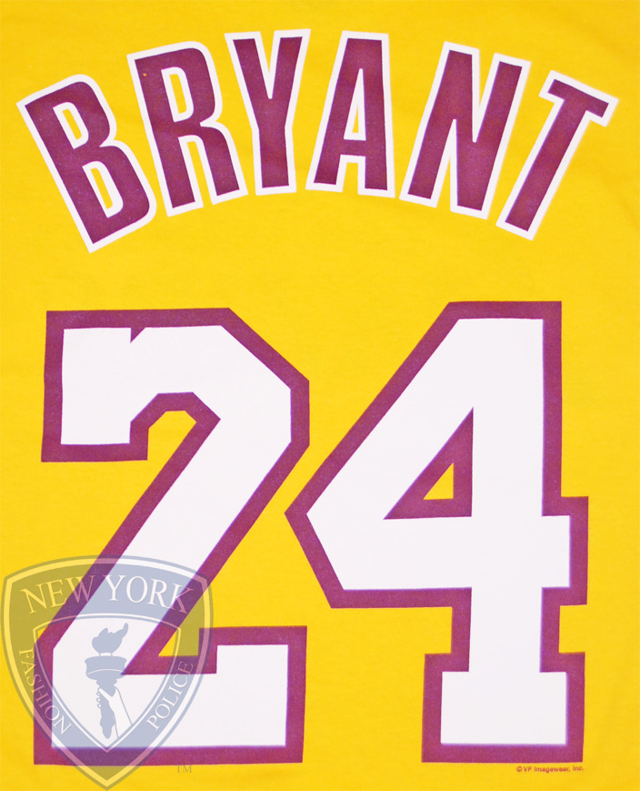 La Lakers T Shirt Jersey Kobe Bryant 24 Los Angeles Tee Top XXL
